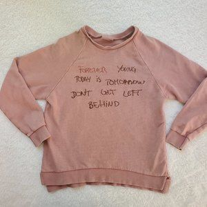 Zara Girls Inspiring Quote Sweatshirt 9